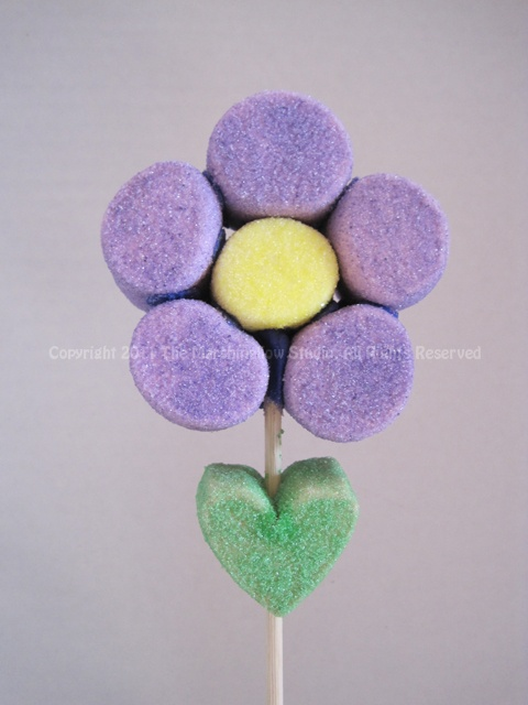 Daisy Marshmallow Flower for Mother's Day or a birthday wish with more flowers in a flower pot