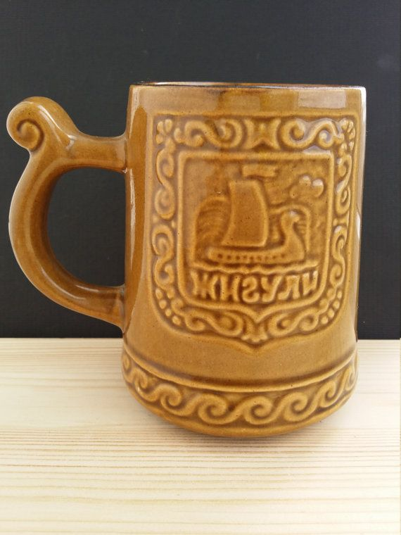 Vintage Soviet beer mugs. Ceramics. от USSRVintageShopUSSR на Etsy