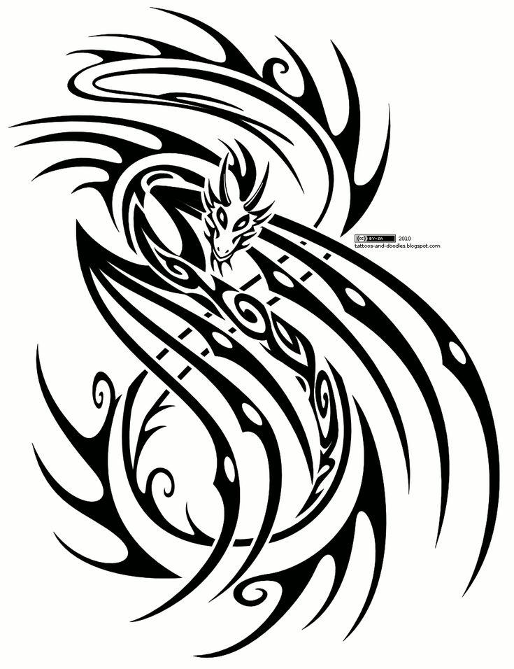 Tribal tattoos tribal #tribaltattoos - See more tattoos designs at Stylendesigns.com!