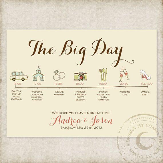 Wedding Timelines Custom Itinerary by CharisDesignStudio on Etsy, $20.00