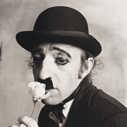 Penn, Irving (1917-2009) - 1972 Woody Allen as Charlie Chaplin by RasMarley, via Flickr
