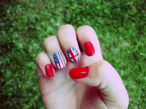Engelse en Amerikaanse vlag