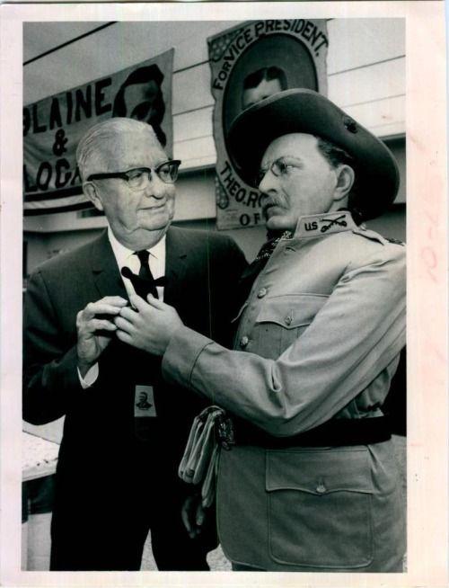 В 1968 Году Президент Теодор Рузвельт Музей Восковых Фигур Статуя