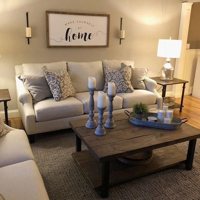 Make yourself at home in this beautiful living room! Don't our customers have the best style? #myrfstyle #livingroomdecorideas
