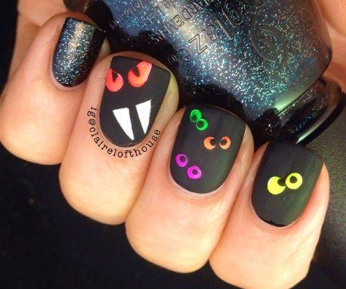 diseno de unas dia de brujas o halloween