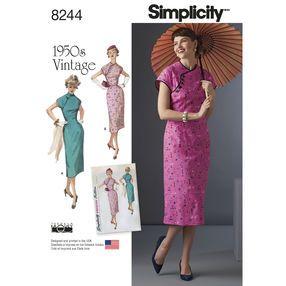 Simplicity Pattern 8244 Misses' 1950s Dress