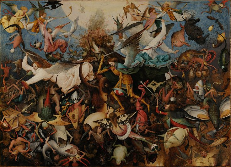 The fall of the Rebel Angels by Peter Bruegel the Elder