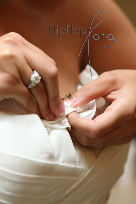 Pinning your sorority pin inside of your dress, over your heart on your wedding day :)