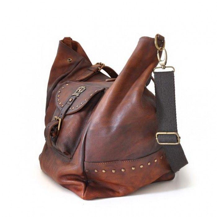 Pratesi 'Talamone' large soft women's leather bag Made in Italy