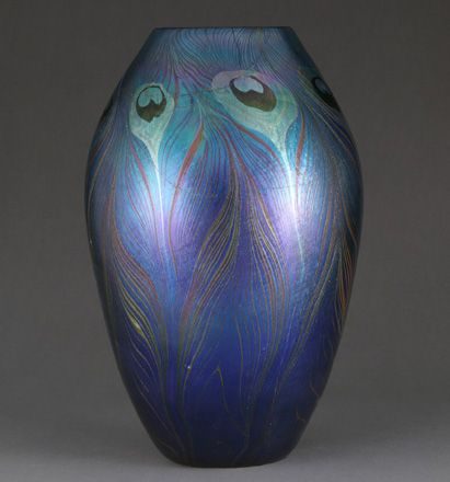 Louis Comfort Tiffany (1848—1933)  Tiffany Glass and Decorating Company (1892—1902)  Vase, 1900  Favrile glass, H. 10 3/4 in