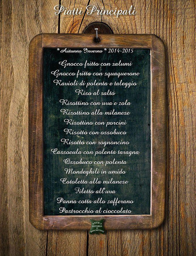 Il Ronchettino ristorante italiano in milano | Piatti Principali