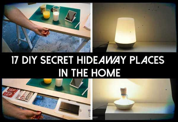 17 DIY Secret hideaway Places In The Home. Get this free pdf today. See where you could hide your valuables in plain sight.