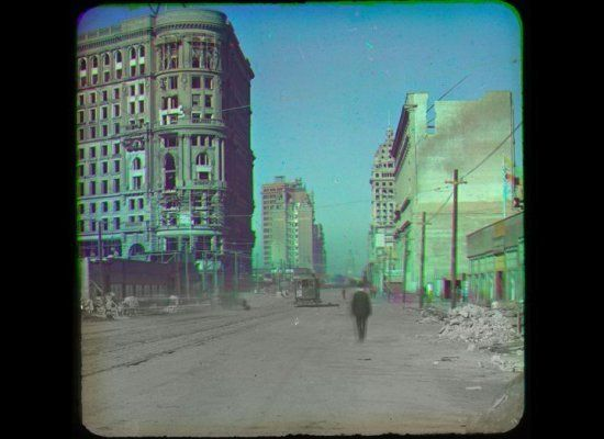 Color photo post-1906 San Francisco earthquake: Photography Innovator, Colorized Photos, 1900, Painterly Photographs, Photos Post 1906, Francisco Earthquake