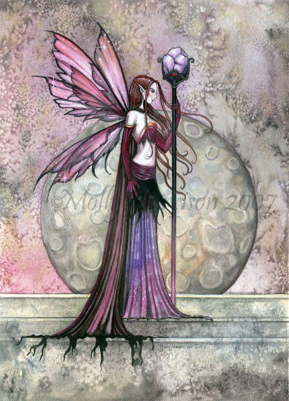 Hada fantasía gótica lámina de Molly Harrison por MollyHarrisonArt