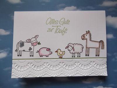 "Sconebeker Stempelscheune - Stampin up Set "" Tierische Grüße """