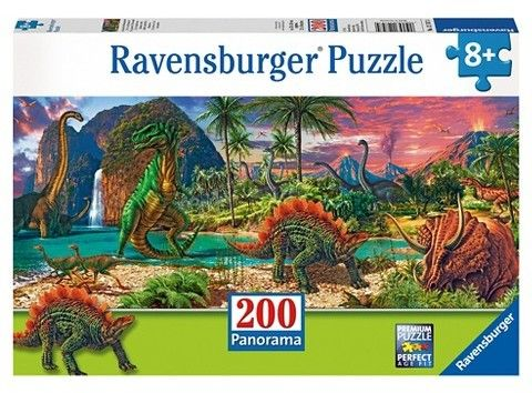 Ravensburger In the Land of the Dinosaurs 200pc Panorama Puzzle