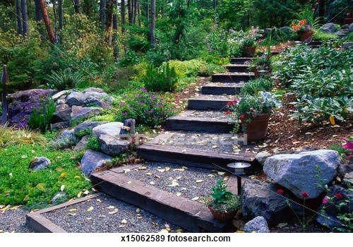 escadas rusticas jardins : escadas rusticas jardins:1000 ideias sobre Escadas Rústicas no Pinterest