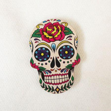 #AD448 - Aplique decorado de caveira mexicana nº1