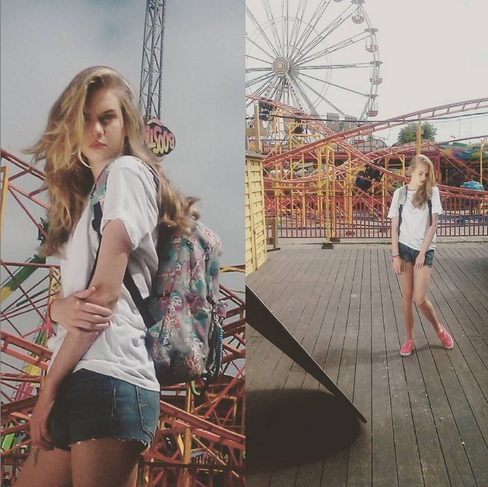#photoshoot #photosession #jeanstore #springsummer15 #ss15 #summer #backstage #backpack #pepejeans #shorts #tshirt #trainers #levis #liveinlevis #model #women #womencollection