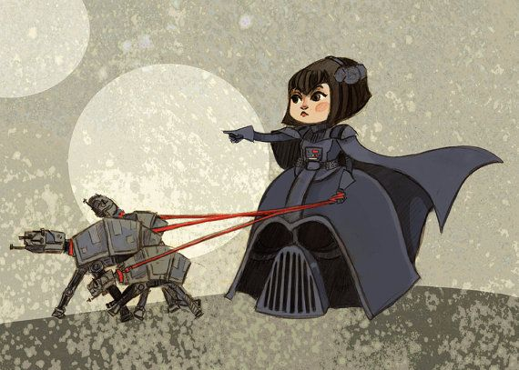 Lady Vader Star Wars Fancy Dress 8x12 art print by theGorgonist, $12.00 Beccs