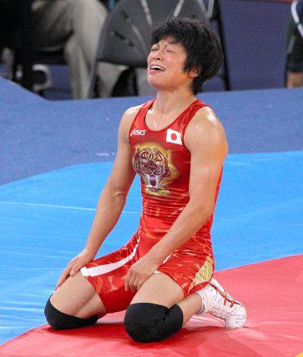 小原が金メダル レスリング女子48キロ級 写真:女子48キロ級決勝でスタドニクを破って、金メダルを獲得した小原日登美=林敏行撮影