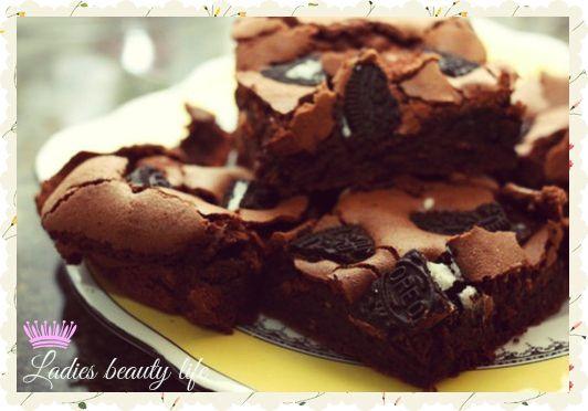 Ladies Beauty Life: [Recette goûter]: Brownies au chocolat noir et Ore...