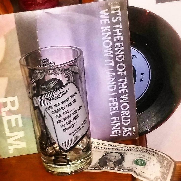 "...six o'clock, TV hour. Don't get caught in Trump towers!...a tournament, tournament, a tournament of lies"". #itstheendoftheworldasweknowit #vote #rem #vinylporn #irs #athensga #michaelstipe #election2016 #electionday #record #45 #recordcollector #vinyl #instavinyl #clinton #recordcollection #vinyladdict #music #nowspinning #jfk #peterbuck #quotes #dollar #onedollar #georgewashington #trump #usa #usa #whowillwin #song"
