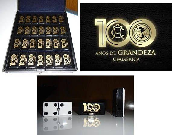 Club America Aguilas Centenario Dominoes Game Set Double 6