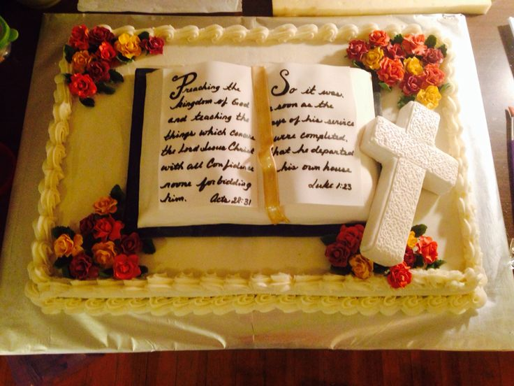 Cupcake Decorating Ideas For Church : Pastor retirement cake My Cakes Pinterest Retirement ...
