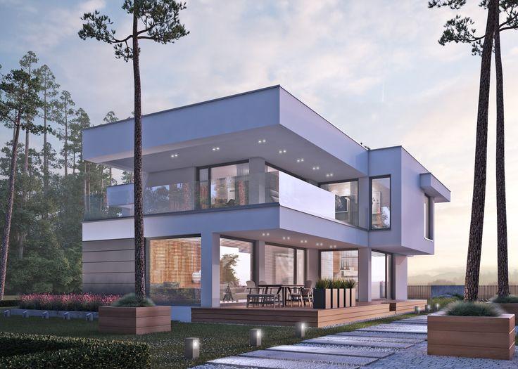LK&1252 #architektura #domynowoczesne #projektowanie #domjednorodzinny #architekci #modernhouse