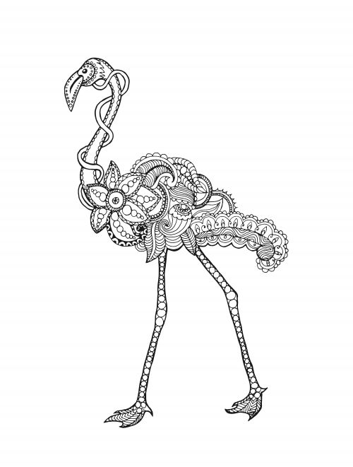 Free Fancy Flamingo Coloring Page - KidsPressMagazine.com