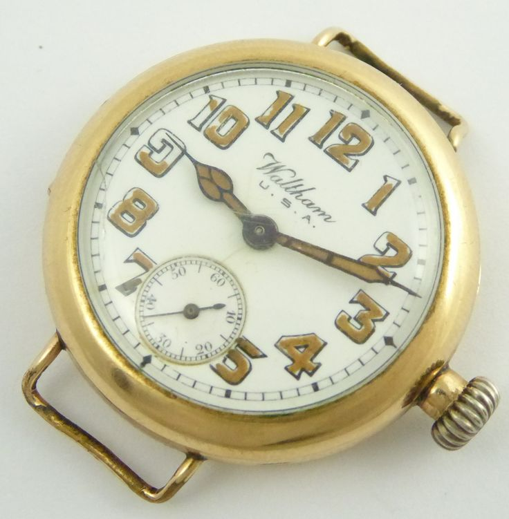 WW1 Gold Plated Waltham Trench Wrist Watch with Luminous Dial - The Collectors Bag