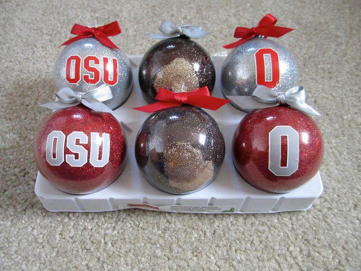 OSU Block O Ohio State Ornaments Set of 6 by BakintoshArts