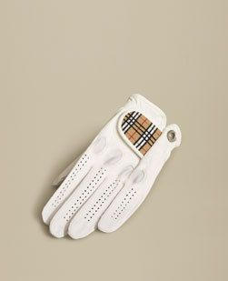 Burberry Golf Glove - gotta look good on the course!