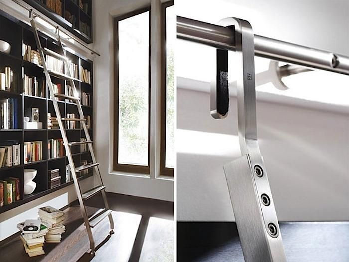 bookshelf bookcase rail ladder and wooden wall amazing with grey