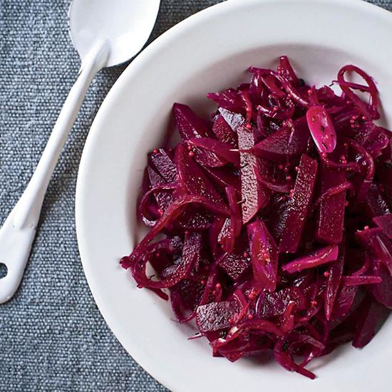 Cider-Vinegar-Pickled Beets | These simple beets are wonderful in salads or by themselves, as a healthy snack.