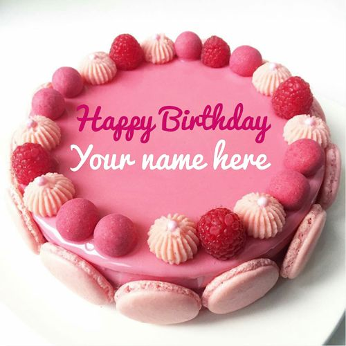 Astonishing Beautiful Strawberry Birthday Cake With Name For Sister Create Funny Birthday Cards Online Sheoxdamsfinfo