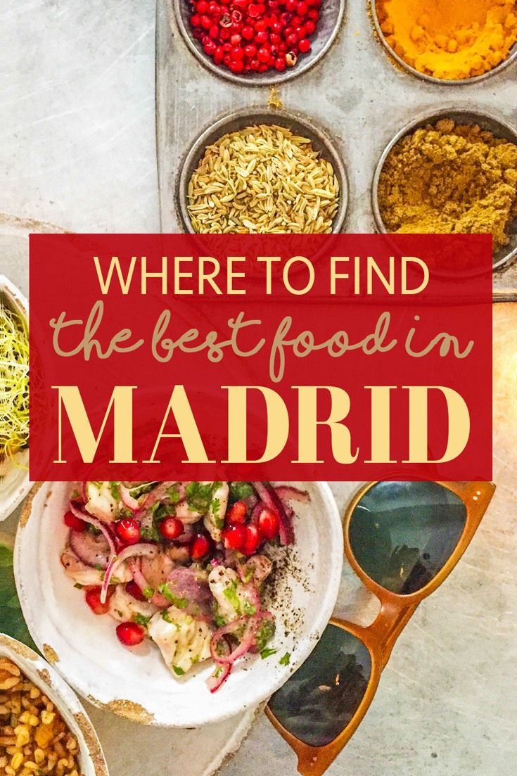Where To Find The Best Food In Madrid The Blonde Abroad Madrid Food Spain Food Foodie Travel