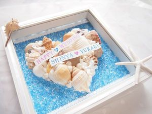 貝殻を使って海っぽく♪夏の結婚式にぴったりの青いウェルカムボードにまとめ一覧♡