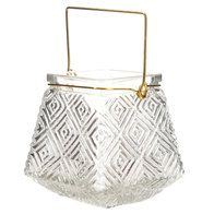 Get Gray Geometric Glass Lantern online or find other Glass Decor products from HobbyLobby.com
