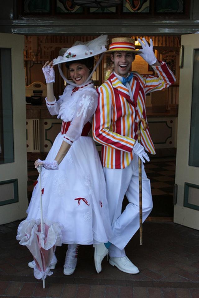 Mary Poppins and Bert in Disneyland