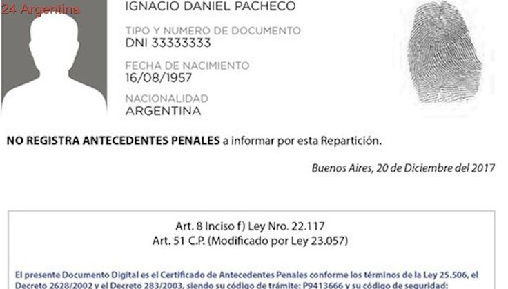 El certificado de Antecedentes Penales se podrá hacer íntegramente online
