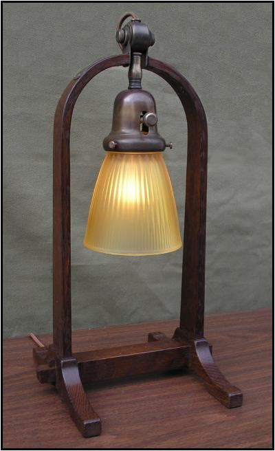 501 Compass Lamp in Oak - These lamps are frequently in stock. Prices: $450 with shade, $420 without shade. Free shipping.
