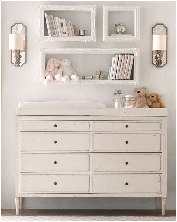 Shabby Chic Baby Room Shelves