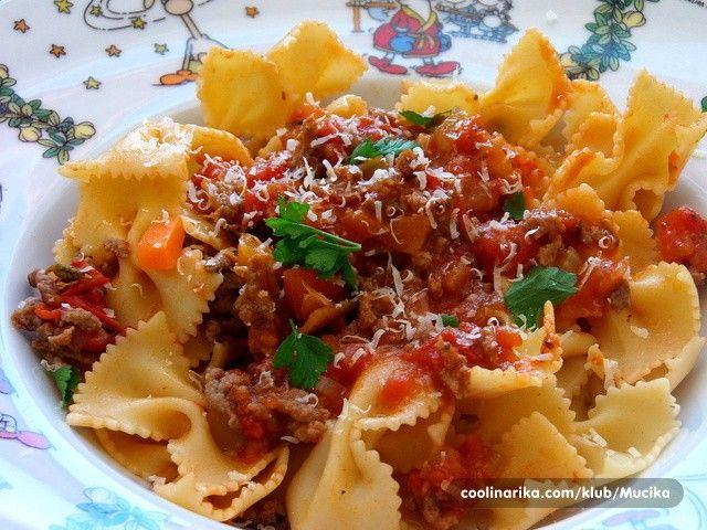 Vynikající hlavní jídlo. Pokud máte rádi těstoviny, toto vám bude chutnat.