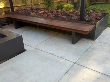Beautiful Bench Modern Landscape By Outdoor Elements