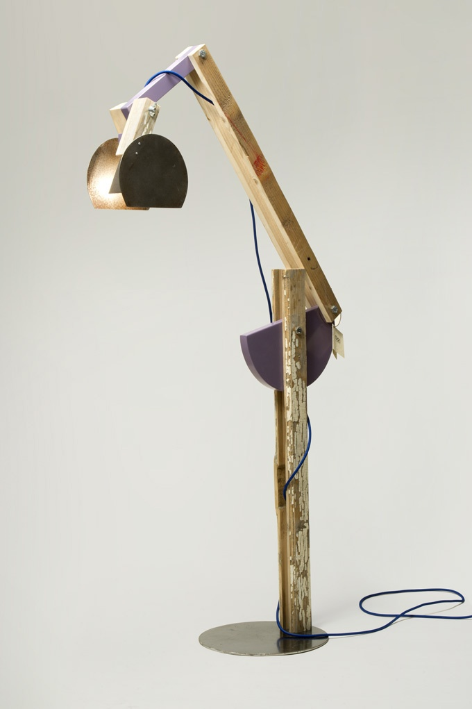 Reclaimed and wooden essences Avocetta lamp