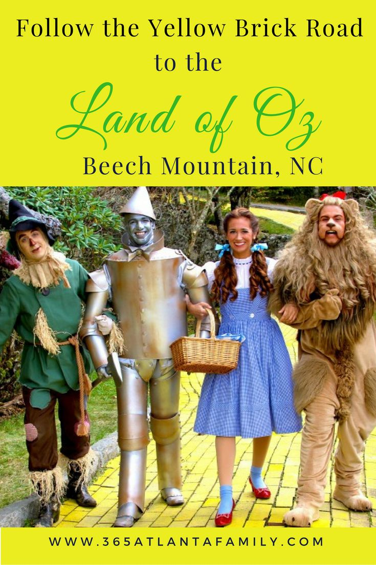 Follow the yellow brick road to the Land of Oz Beech Mountain North Carolina's mountain top theme park for the Wizard of Oz festival, Autumn at Oz & more.