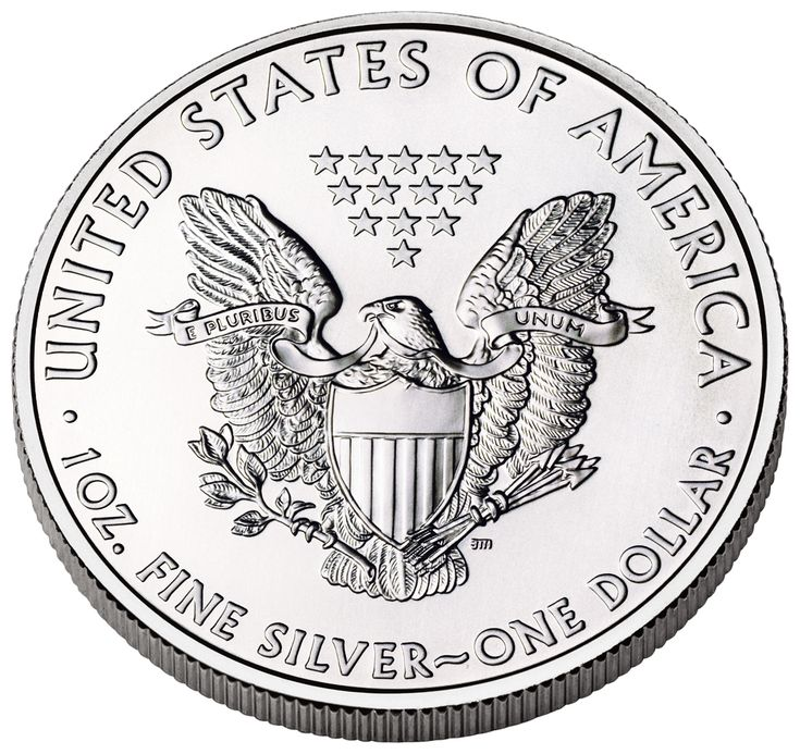 U.S. Coins | American Eagle Silver Coin (Reverse) (US Mint image)