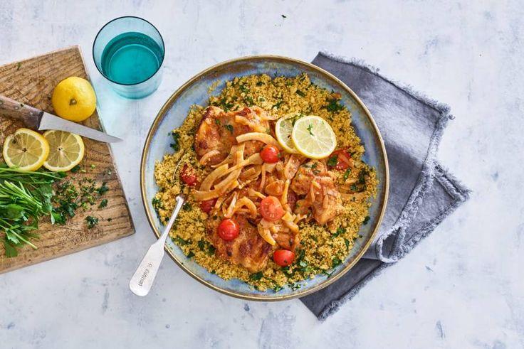 Couscous, kip en kruiden in een geurige stoof: Marokko in de keuken - Recept - Allerhande